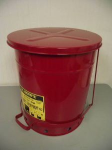 Justrite 09500 14-Gallon Red Oily Waste Can - New Surplus