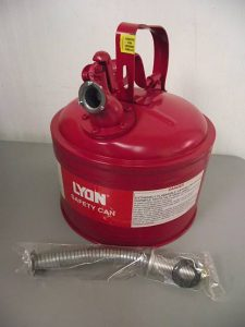 Lyon NF5488 3-Gallon Type 2 Safety Can - New Surplus