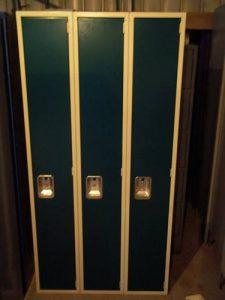 "Lyon Single-Tier 12""x18""x72"" Green Lockers - New Surplus"