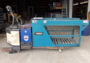 BHS Powered Battery Changer with Crown Pallet Jack - Used