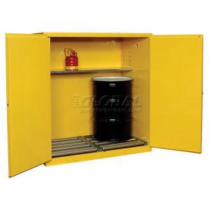 BV2 Double Barrel Flammable Storage Cabinet - New Surplus Su0026D