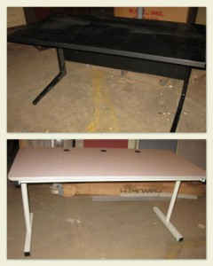 "Assorted 30""x60"" Computer Tables - Used"