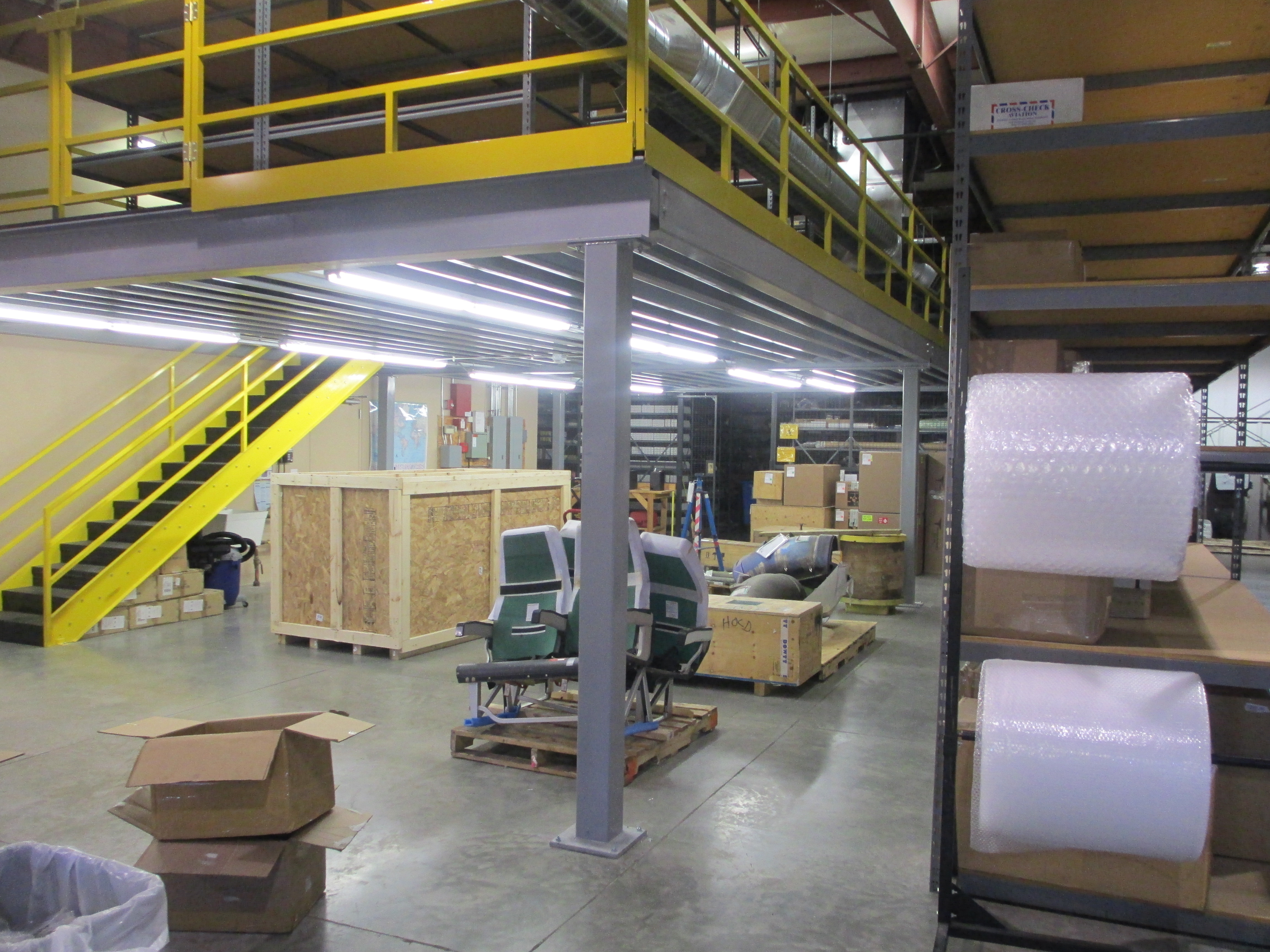 Build A Mezzanine Storage : Mezzanine project with shelving hiawatha ia welter