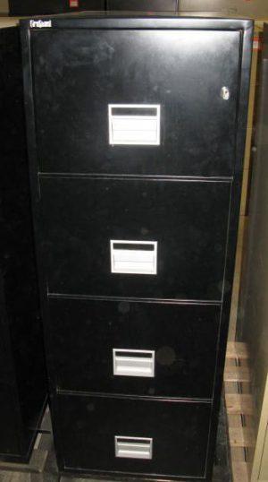4-Drawer Fireguard Black Legal Size Fireproof File - Used