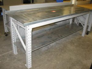 Maximus Galvanized Top HD Workbench w/ Under Shelf