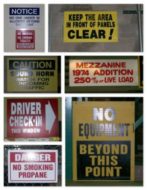Warehouse Sign Examples #1