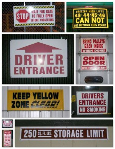 Warehouse Sign Examples #2