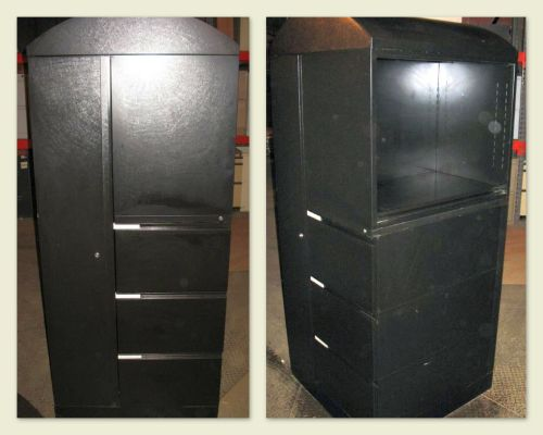 Black Multi-File with Bookshelf - Used
