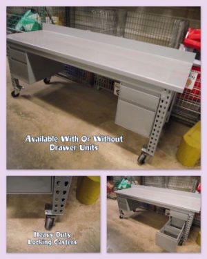 Maximus Heavy Duty Workbench w/ 2 Drawer Units & Casters