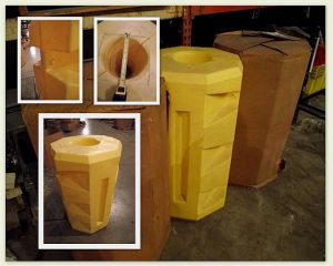"Column Protectors for 9"" Column 42"" Tall - New Surplus"
