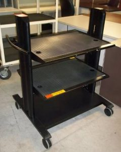 3-Shelf Computer Carts - Used