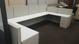 """Knoll """"Double"""" Workstation - Used"""
