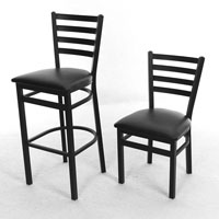 Ladder Back DINING CHAIRS - New
