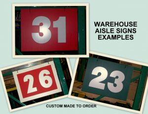 Warehouse Aisle Sign Examples