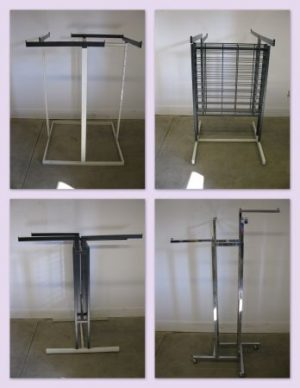 Clothes Racks Square 4-Way (Assorted Styles) - Used