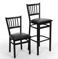 Vertical Back DINING CHAIRS - New