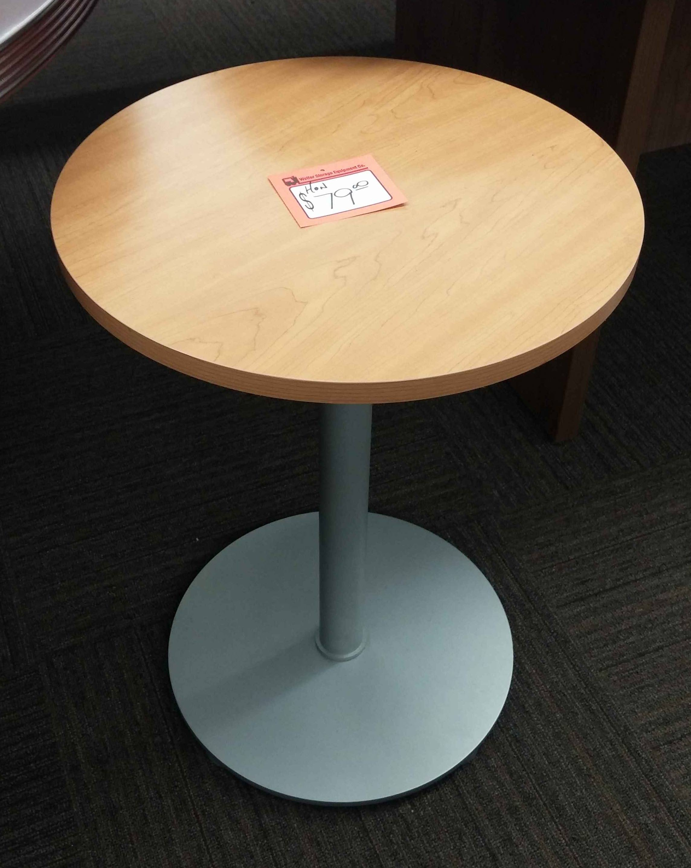 "18"" Hon Flock Laminate Personal Table Used Welter Storage"