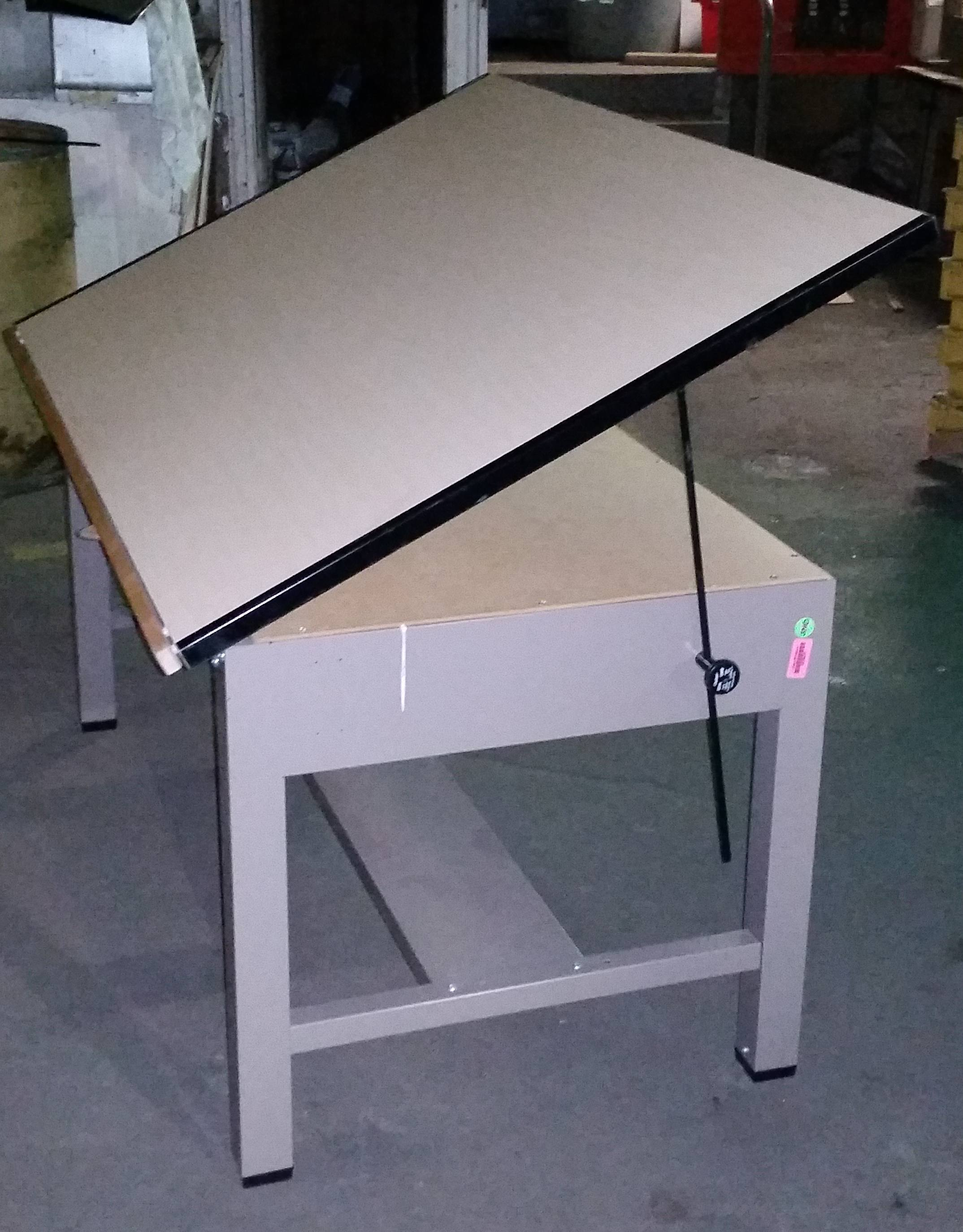 3'x5' maple laminate drafting table - used - welter storage