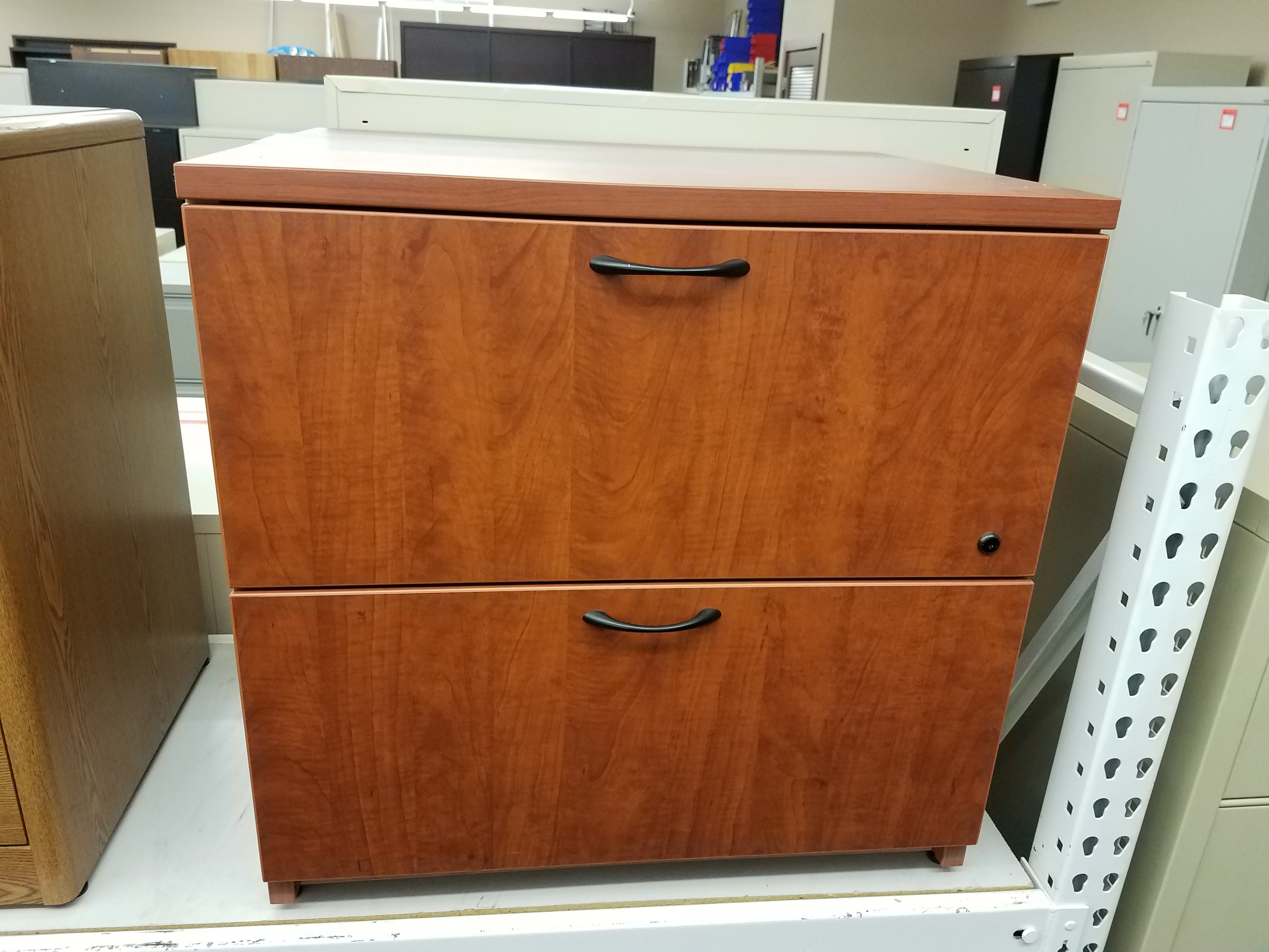 2-Drawer Steelcase Turnstone Cherry Laminate Lateral File u2013 Used : cherry filing cabinet 2 drawer - Cheerinfomania.Com