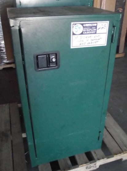 #54 Green Pesticide Cabinet 3-Shelves and Storage Slots - Used