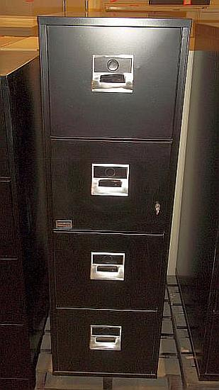 4-Drawer Victor Brand Letter Size Fireproof Files - Used