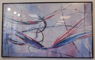 Art Print 10 - Color Swirl - Black Frame - Used