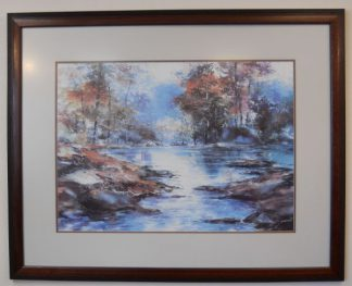 Art Print 1 - Fall Trees & Lake - Used