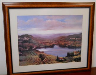 Art Print 14 - Lake Houses, Hillside - Used