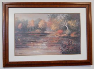 Art Print 15 - Fall Trees / Water - Artist Diane Haist - Used