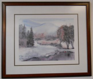 Art Print 42 - Lake, Trees Winter - Used