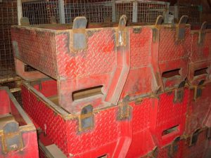 """Stackable 36""""x30""""x16"""" (8"""" Useable) Steel Tubs  - Used"""