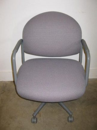 Steelcase Gray Fabric Tube Arm Chair - Used