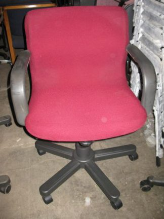 Knoll Brand Burgundy Arm Chairs - Used