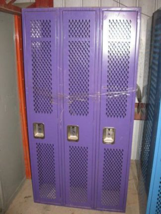"Lyon Mesh Front Single-Tier 12""x12""x72"" Lockers - New Surplus"