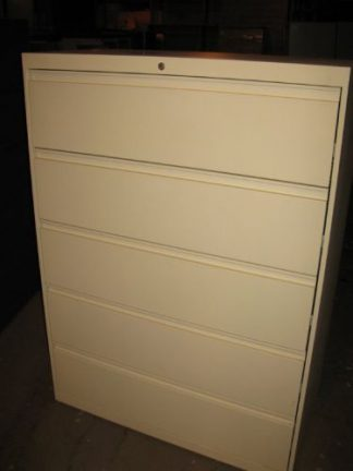 5-Drawer Putty/White Color Lateral Files - Used