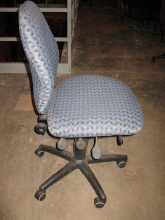 Blue Pattern Multi Task Chairs - Used