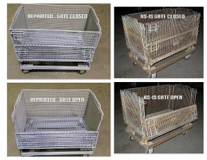 """20""""x32""""x16"""" (Useable) Tall """"Junior"""" Wire Baskets - Used"""
