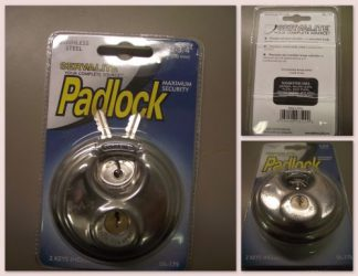Maximum Security Padlocks with Body Armor - New