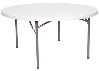 Harmony 5' Round Blow Molded Table - New