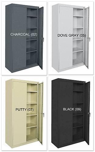 """36""""x24""""x72"""" Sandusky 2-Door Cabinet - New"""