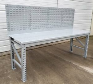 Maximus Rugged Steel Workbench w/Louvered Back