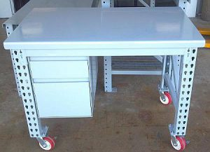 """Maximus 48"""" Wide Workbench with Drawer Unit & Casters"""