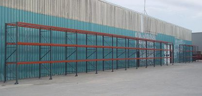 Outdoor Pallet Rack Project - Monticello, IA