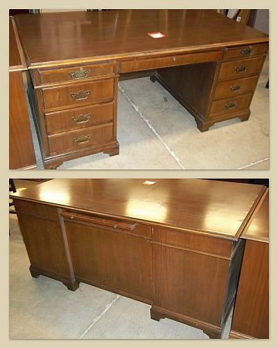 "Jofco Brand 36""x65"" Traditional Veneer Desks - Used"