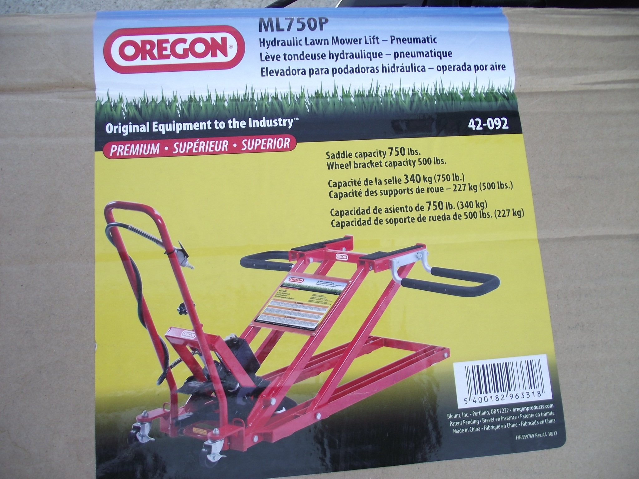 Oregon 42 089 Lawn Mower Lift Welter Storage