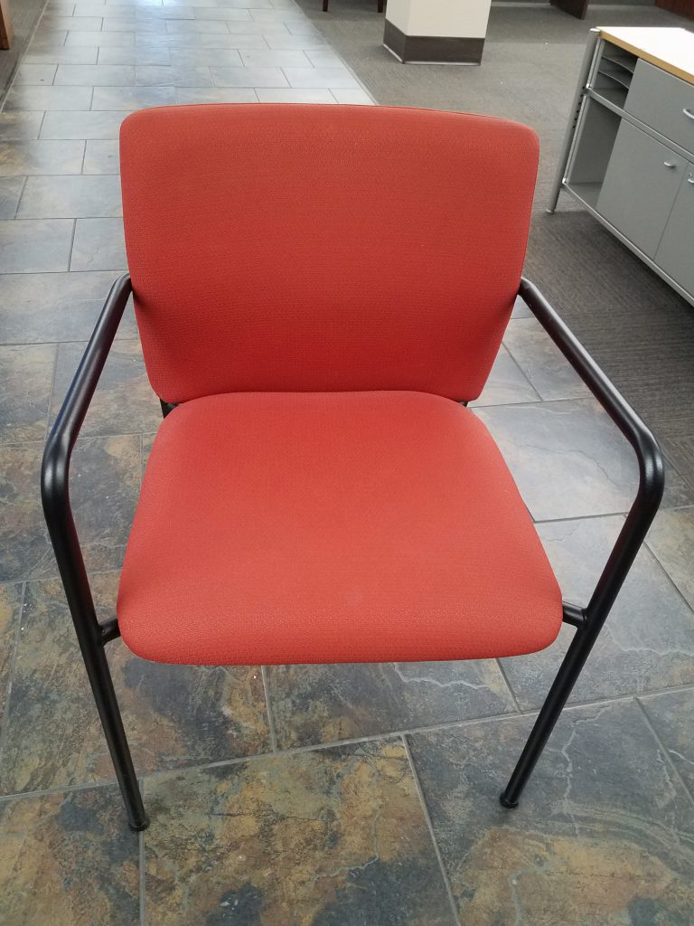 Steelcase Turnstone Quot Crew Quot Guest Chairs Tomato Red Used