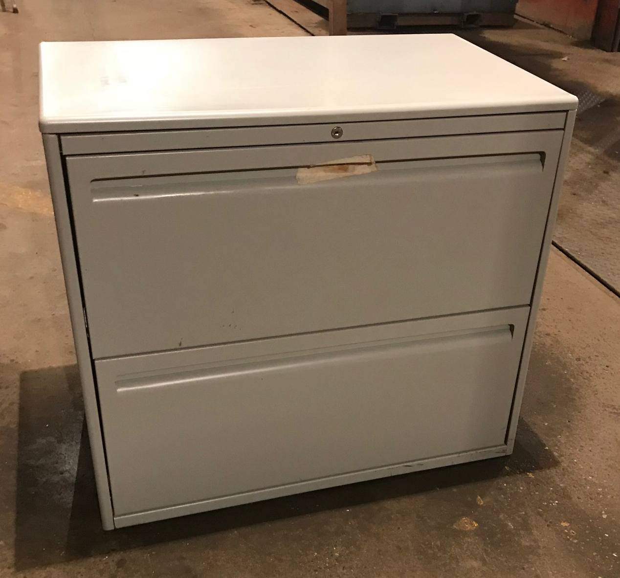 2 Drawer Haworth 30 Wide Gray Lateral