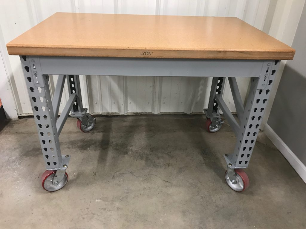 Maximus 48 Quot Wide Wood Top Workbench With Casters Welter