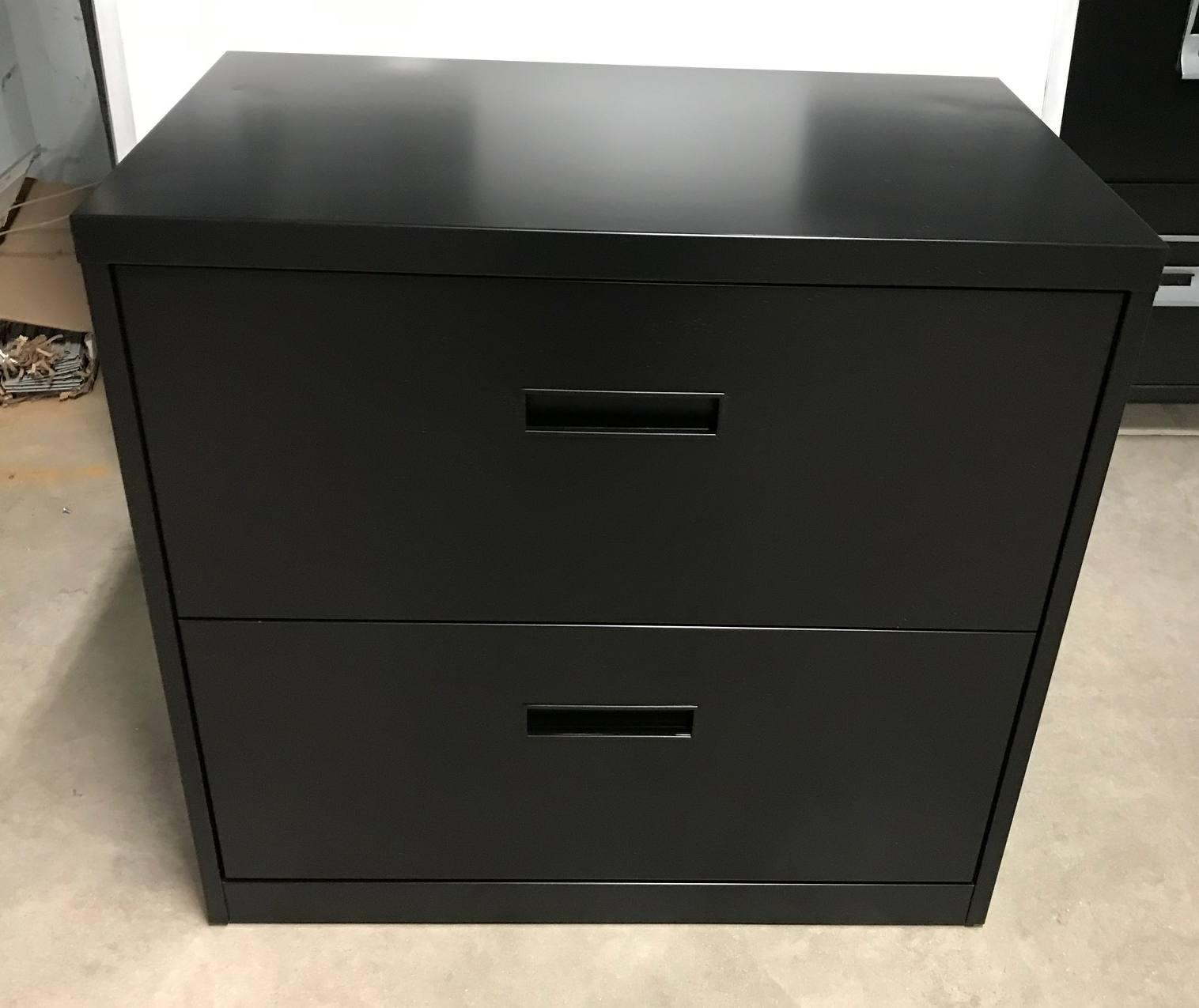 2 Drawer Steelcase Brand 30 Wide Black