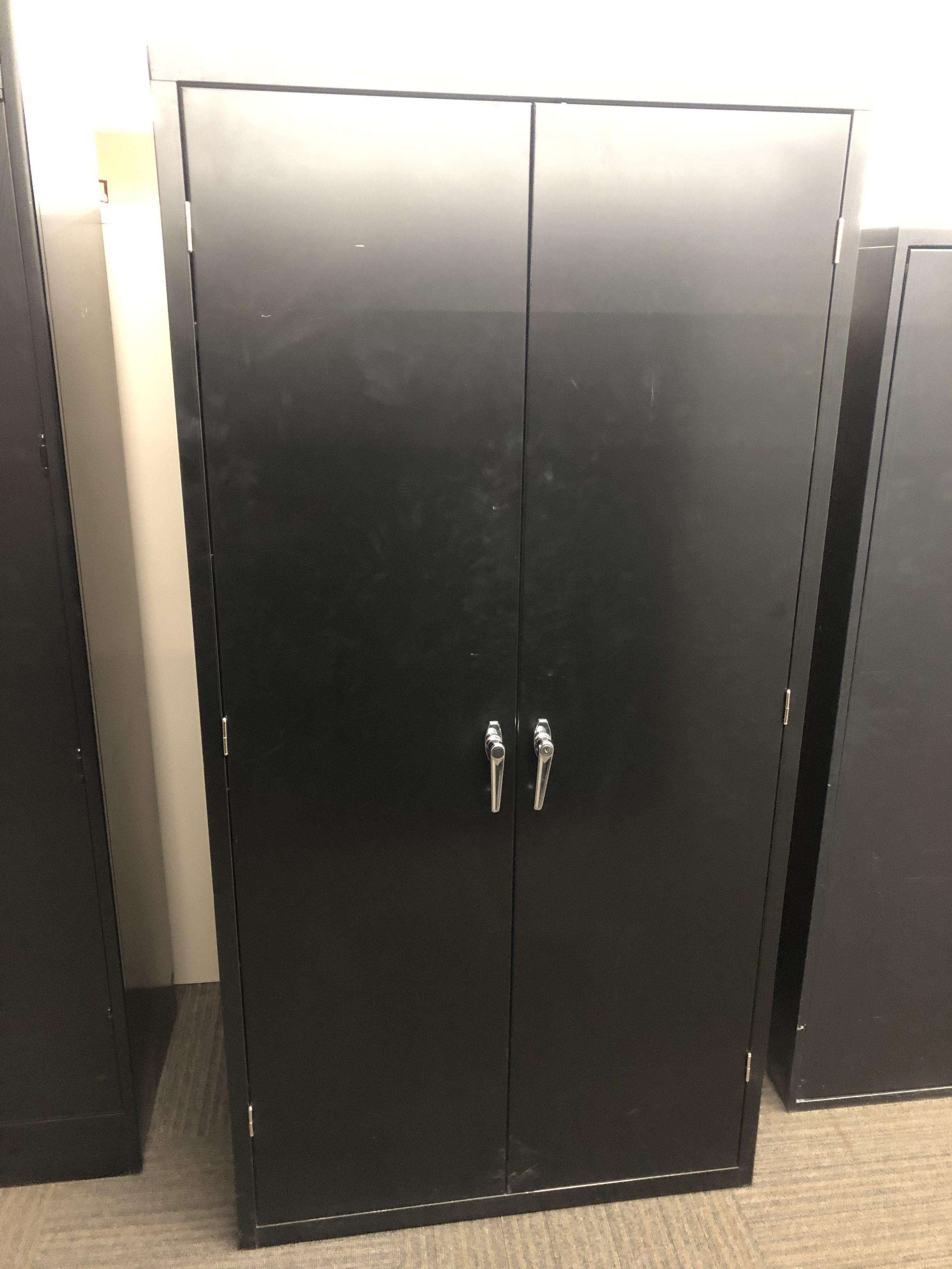 Hon Black Metal Storage Cabinet Used